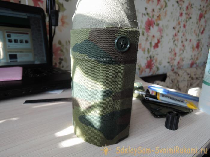 Как оформить бутылку к 23 февраля