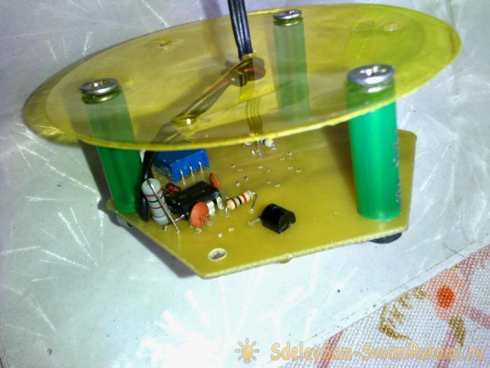 Simple nightlight on a microcircuit