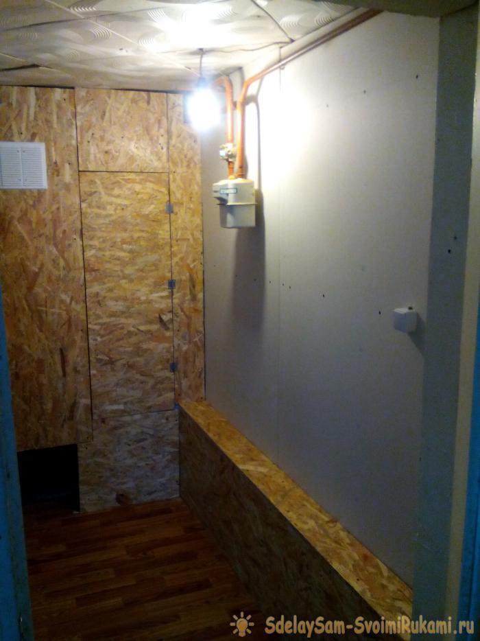 Обшивка коридора гипсокартоном и плитами