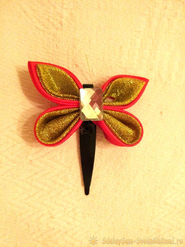 Бабочка из лент