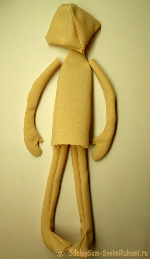 Как сделать текстильную куклу своими руками