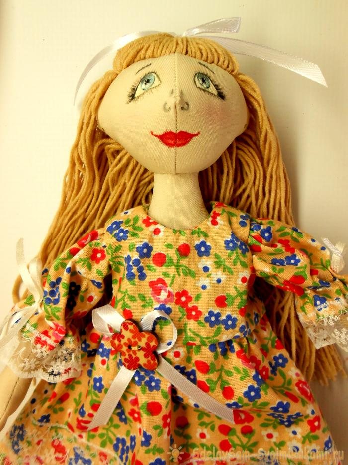 How to sew a textile doll step by step