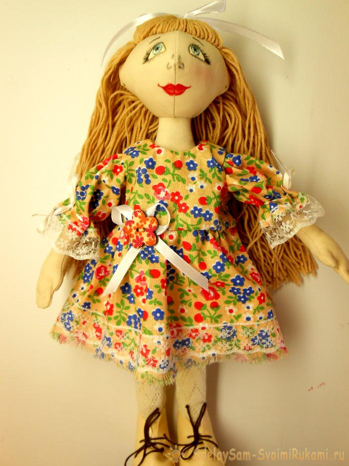How to sew a textile doll in stages