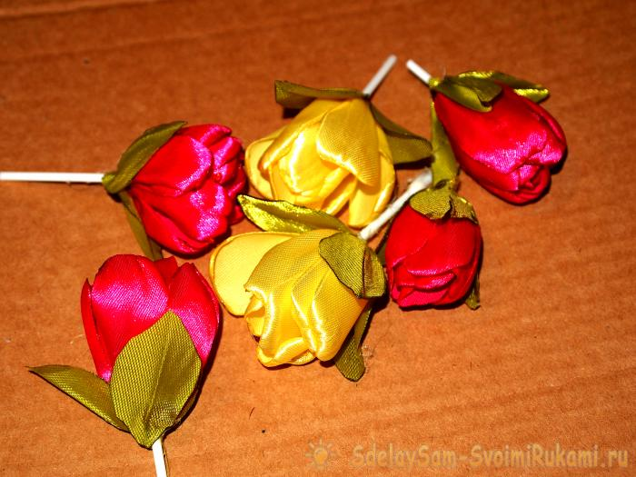 Цветы из фетра для топиария своими руками