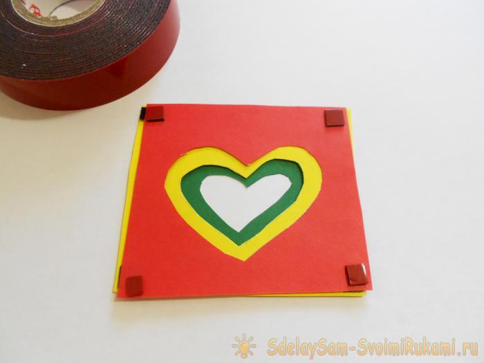 Сделай сам открытка сердце в сердце 118