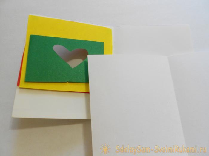 Сделай сам открытка сердце в сердце 10