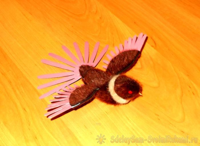 Чудесная рыжая игрушечная птичка своими