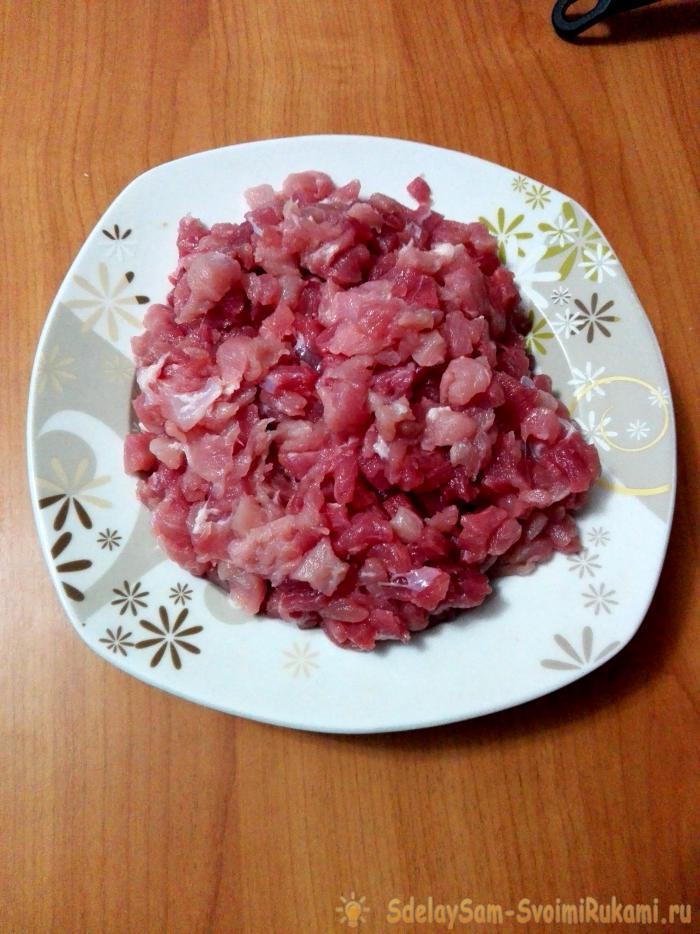 Манты Богатырские с рубленым мясом