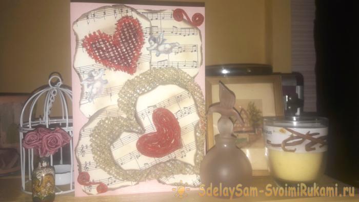 Мастер-класс по изготовлению открытки ко дню св. Валентина