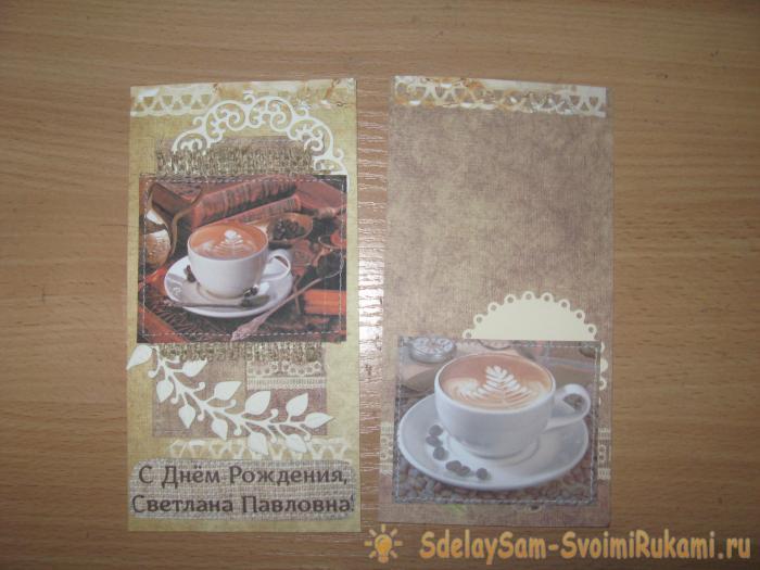 Coffee card chocolate
