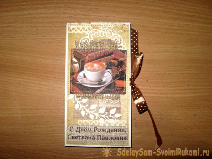 Chocolate card chocolate