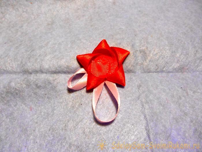 Volume valentine of satin ribbons