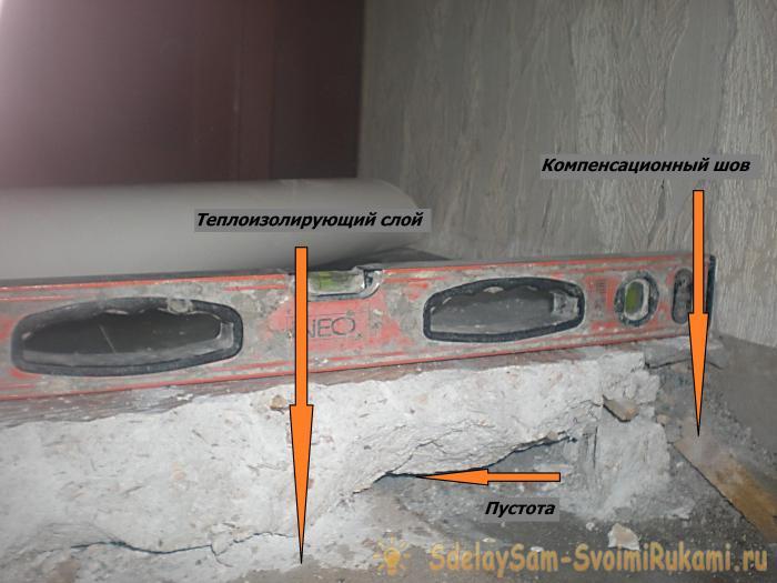 Ways to restore floor screed