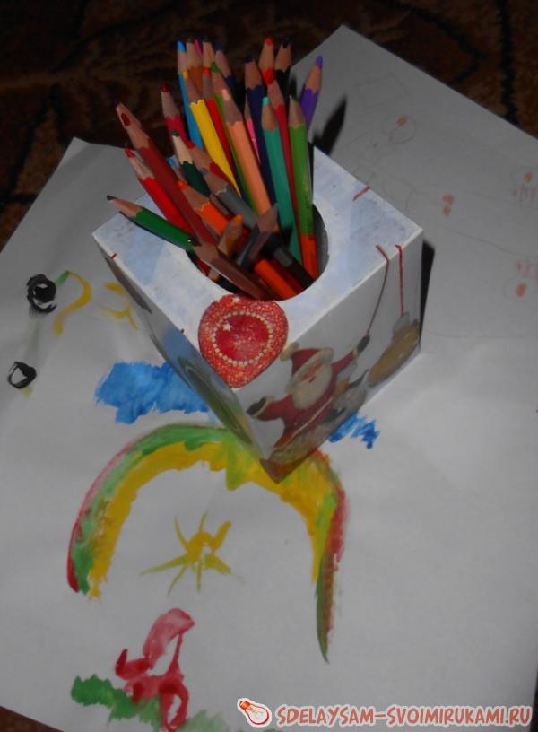 Pencil Decoupage