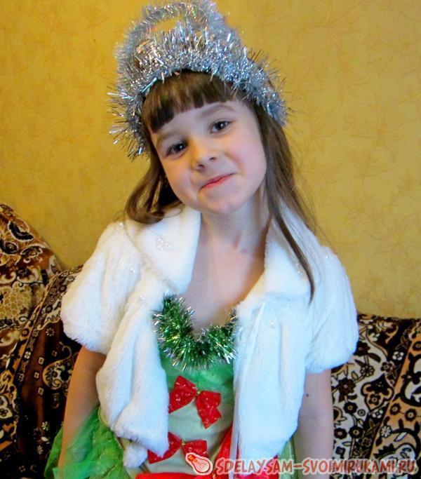 Новогодний костюм ёлочки | Мастер-класс своими руками - photo#3