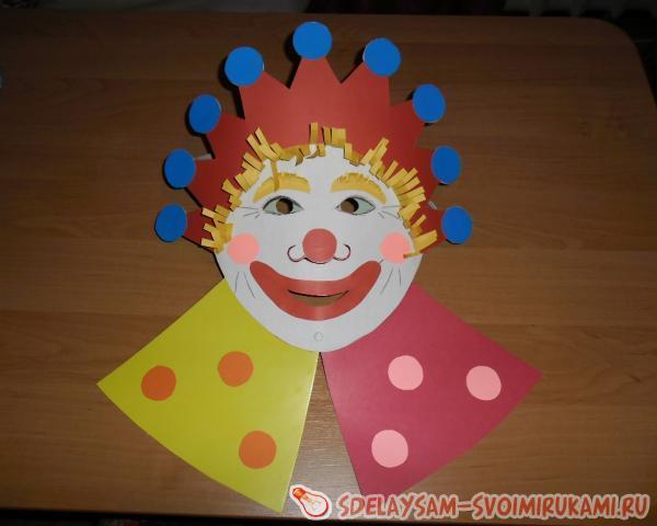 как сделать маску клоуна