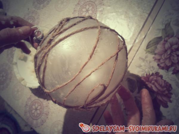 обматать шар