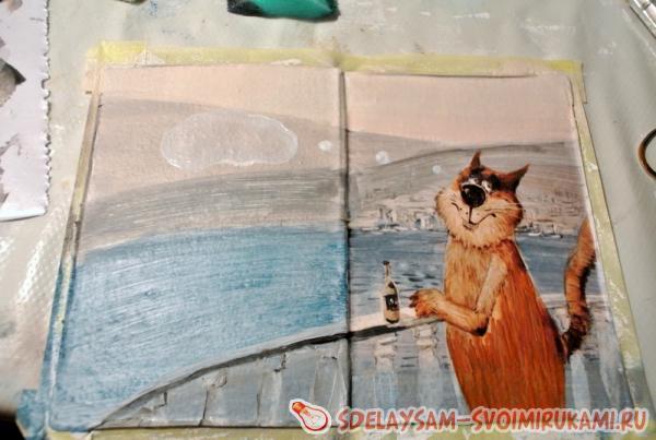 Рисуем перила балкона