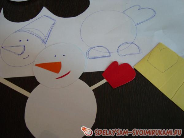 Собираем снеговиков
