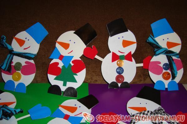 Снеговики новогодние