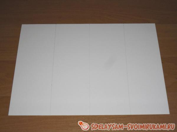 Лист белого картона