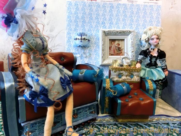 Королевский диван для куклы