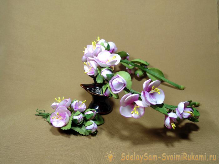 Цветы яблони или яблоневый цвет своими руками из фоамирана