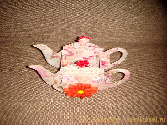 Stand in the form of a teapot