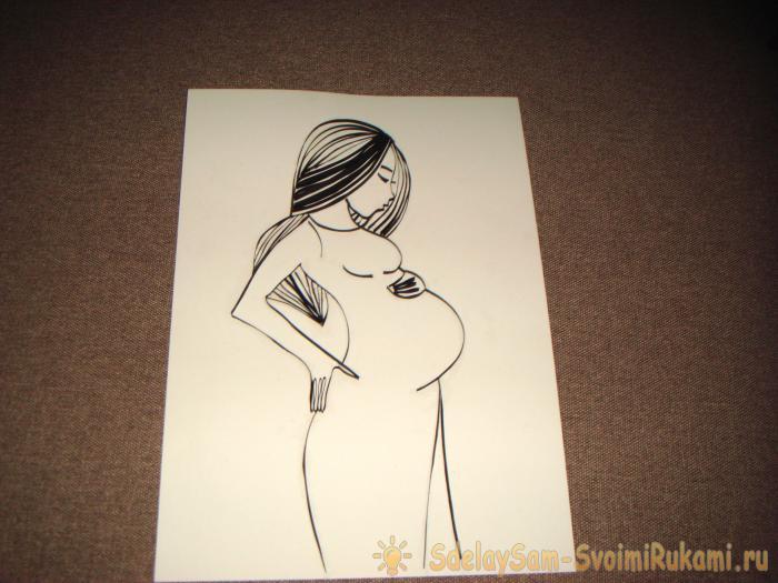 Картина Беременная