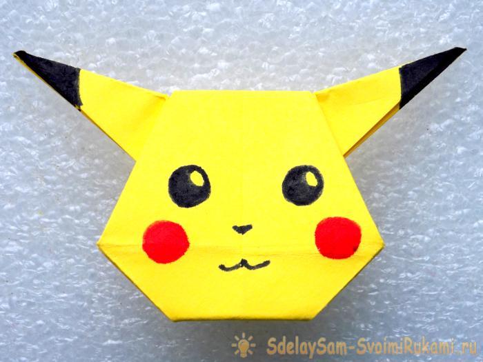 Оригами ПИКАЧУ из бумаги ️ Как сделать оригами закладку