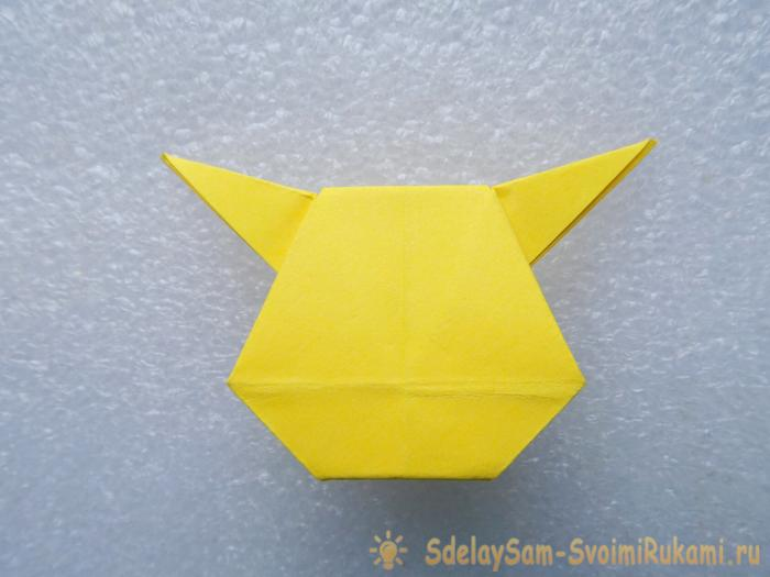 Pokémon Pikachu in the technique of origami