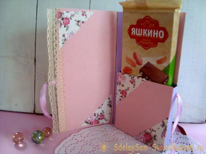 Шоколадница в стиле скрапбукинг