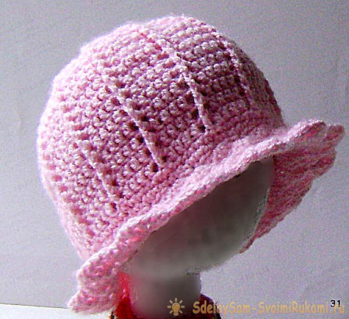 вязание летних шляпок, панамок