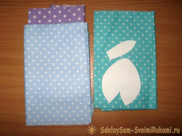 Eggs bunnies from cloth