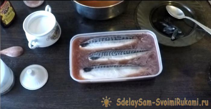Приготовление скумбрии холодным копчение