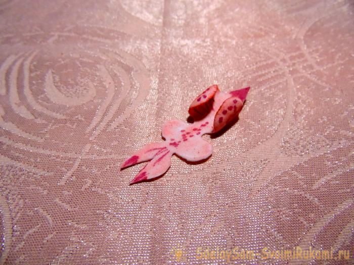 Мастер класс зажима Орхидея
