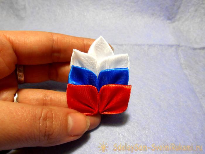 Брошь Колосок триколор