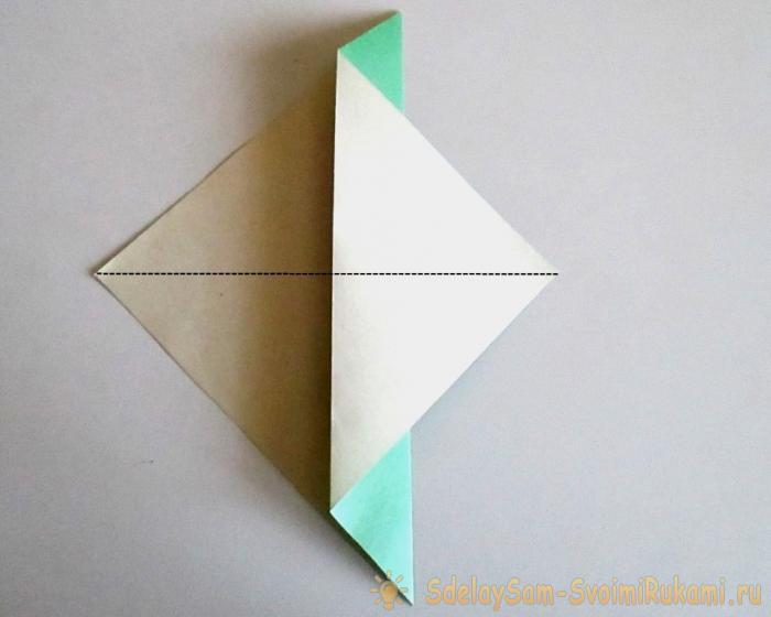 Как сделать птичку оригами