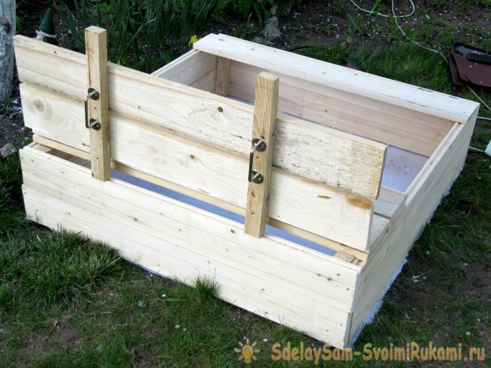 Children's convertible sandbox