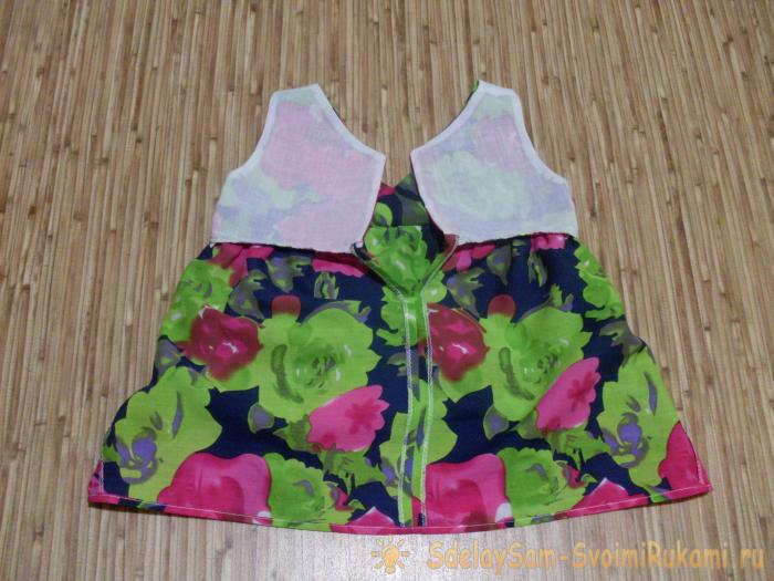 We sew a summer sarafan for a girl