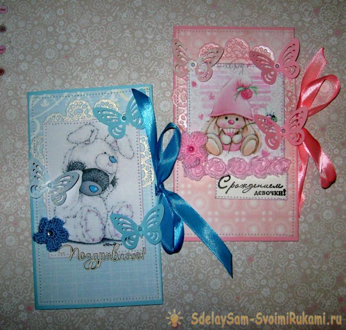 Handmade handmade envelopes for birth