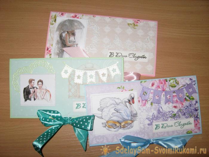 Wedding envelopes for a money gift