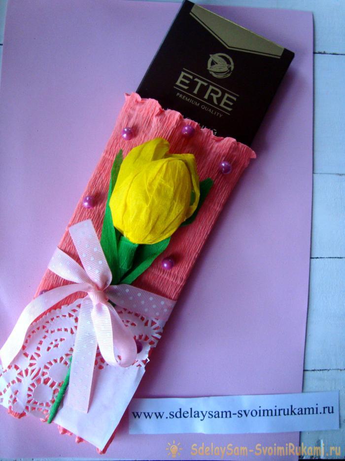 Как красиво упаковать шоколад