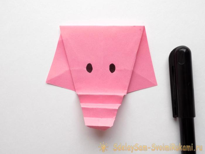 How to make an elephant using an origami technique