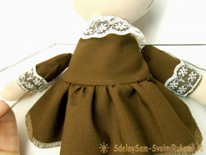 How to sew textile interior doll