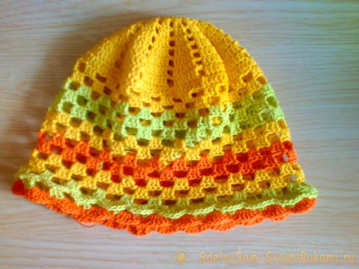 knitting decorations for the summer hat