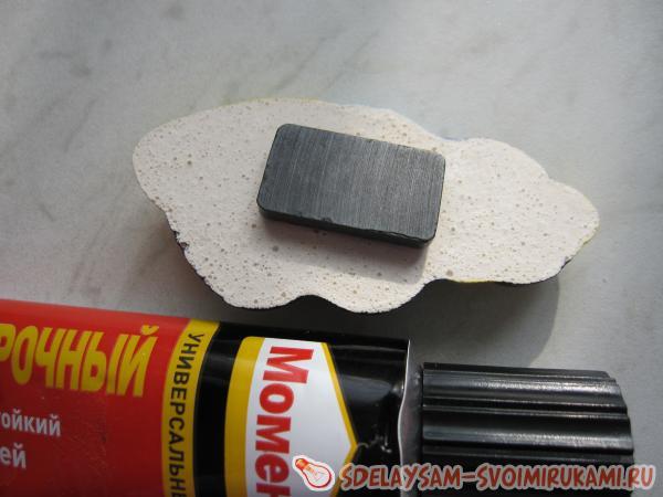 glue the magnet