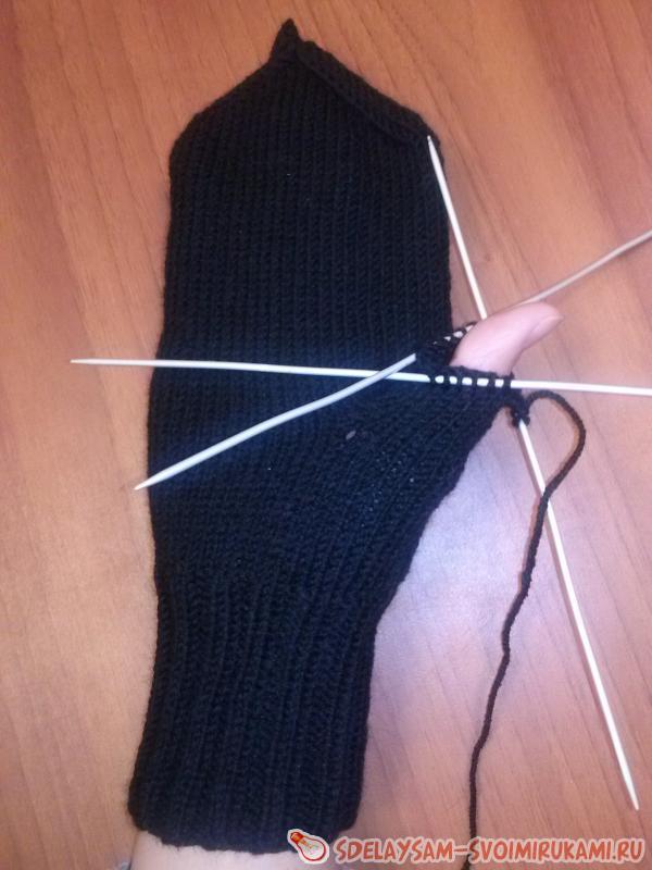 Вязание пальца 10