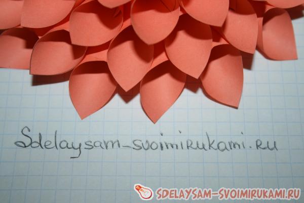 Поделки цветы георгины из бумаги своими руками поэтапно 74