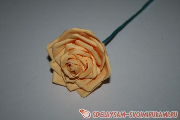 Бумажная роза прям как настоящая